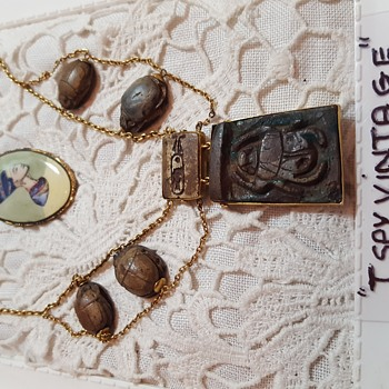 Here are  some items from my costume  jewelery collection(Egyptian revival)  - Costume Jewelry