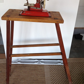 Cutest little child's sewing machine and stand (esp.) - Sewing