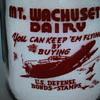 MT. WACHUSETT DAIRY...WEST BOYLSTON MASSACHUSETTS...WAR SLOGAN MILK BOTTLE