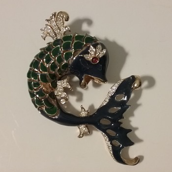 Panetta dolphin brooch  - Costume Jewelry
