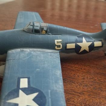 Vintage WW2 built model - Grumman? - Military and Wartime