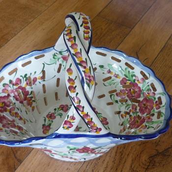 Basket Fruit Bowl - Pottery