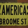 1950s Manhattan, N.Y. porcelain street sign