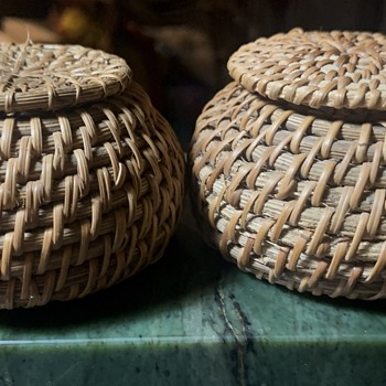 Three Baskets - 2 covered and one large open one. - Furniture