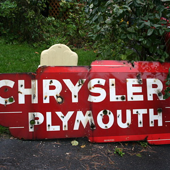 chrysler plymouth neon dealership sign - Signs