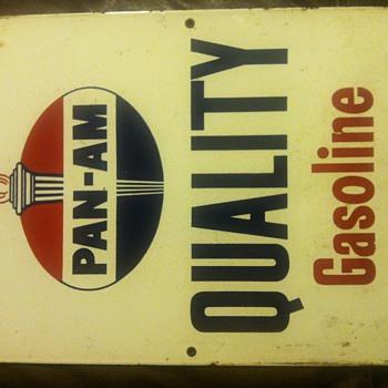 Pan-am one sided porcelain sign - Petroliana