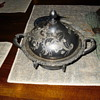 Meriden B. Company silver butter dish