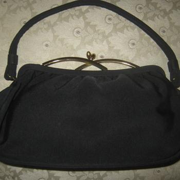 Vintage Garay Navy Blue Handbag,  ca. 1940s  - Bags