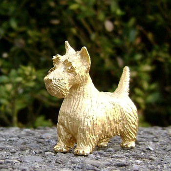 Trifari Dog Pin - Scottish Terrier  - Animals