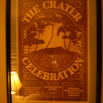 Crater Celebration Poster from 7/4/1975 - Posters and Prints