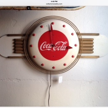 1948 Coca-Cola Clock With Kay Display Attachments - Coca-Cola