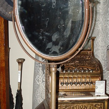 Antique Department Store Pedestal Mirror...Beveled Glass