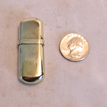 Vintage Brass No. 3 Pocket Wheel Slip Wick Lighter, I THINK? - Tobacciana