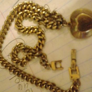 Monet heart charm chain-link choker