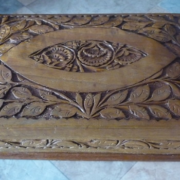 Carved Wooden Box - Furniture