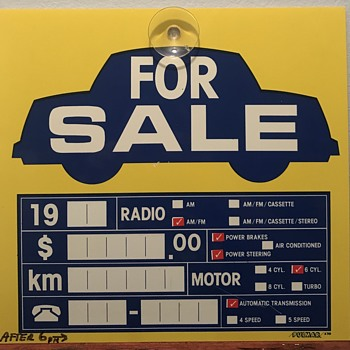 Car for sale sign. - Signs