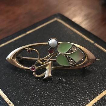 Jugendstil brooch - a CW gift! - Art Nouveau