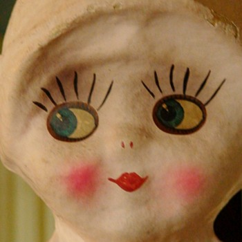 Kewpie Style Doll Lamp 1920s Side Glancing Papier Mache (Ungers?)