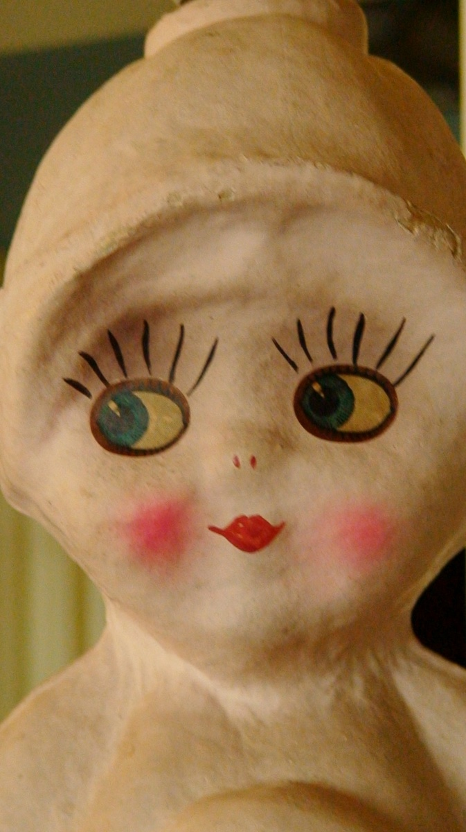 Kewpie Style Doll Lamp 1920s Side Glancing Papier Mache (Ungers?)    Collectors Weekly