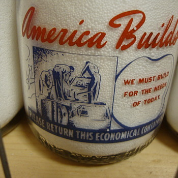 Unusual War Slogan Milk Bottles #2........... - Bottles