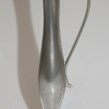 Small pewter vase