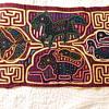 Kuna Mola. Vintage Ethnographic Folk Art. Panama / South American Indian Kuna Mola.