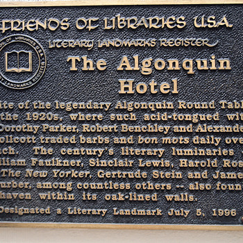The Algonquin Round Table Plaque - Photographs