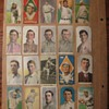 Antique baseball card scrapbook from the early 1900's