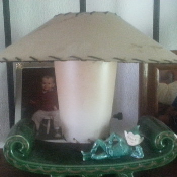my favorite old lamp and shade - Lamps