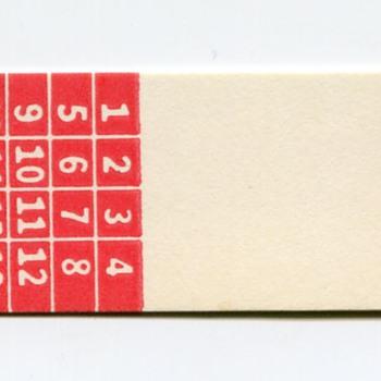 Pennsylvania Railroad Seat Ticket