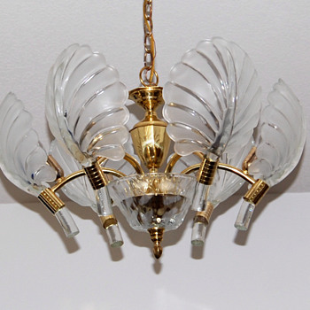 Glass Clam Shell Chandelier -- Project Complete