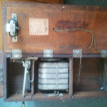 1905 Julius Andrae & Sons Co. Wall Phone - Telephones