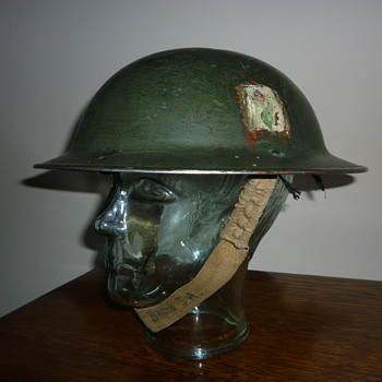 British WWII Home Guard steel helmet.