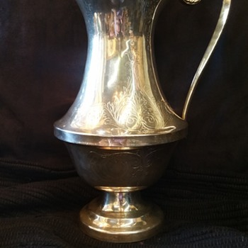 What I believe to be a coin silver water pitcher? Any help please! - Silver