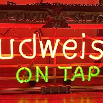 Budweiser On Tap Sign - Signs