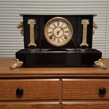 Ansonia Cast Iron Mantel Clock - Clocks