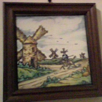 DON QUIXOTE TILE - Pottery