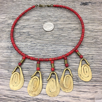 Navaho ? Coral Bead Necklace - Fine Jewelry