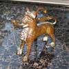 "Miniature repro of Seljak Lion Incense Burner ? 5.25"" X 5.25"""