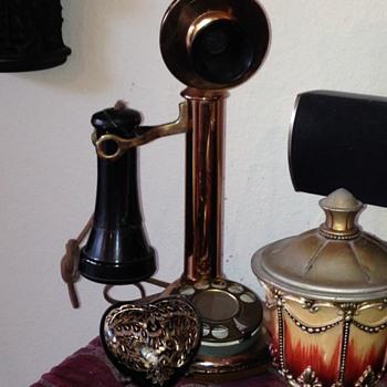Brass Candlestick Phone - Telephones