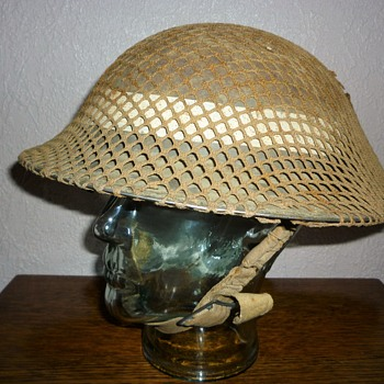 British WWII steel helmet D-Day - Military and Wartime