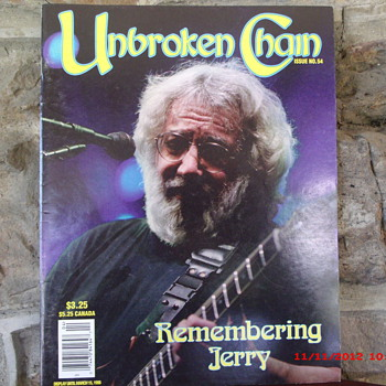 From my Grateful Dead Collection is Unbroken Chain Magazine from Jan. Feb. March 1996 - Music Memorabilia