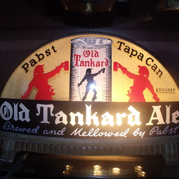 Pabst Beer Old Tankard Ale Cab Light made by Gillco of Phila. PA. - Breweriana