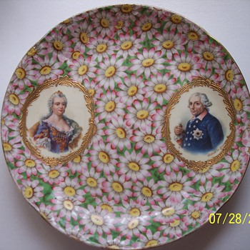 My Mystery Plate with Pink Daisies - Pottery
