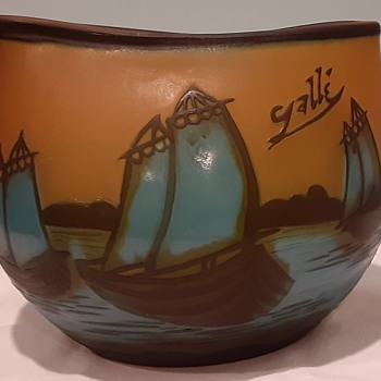 Galle Art Glass, Unusual Shape and Motif - Art Glass