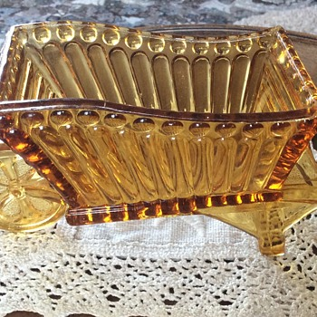 Amber Glass wheelbarrow
