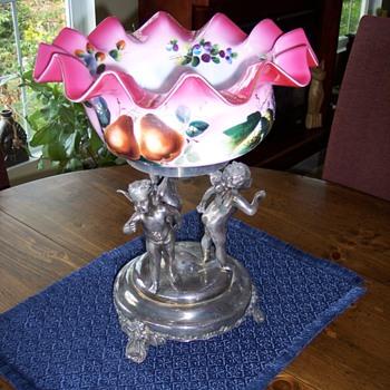 Barbour Silver Co. Brides Bowl - Art Glass