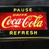 Coca cola pause refresh plexiglass light up sign