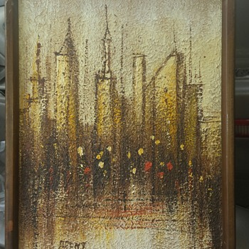 It looks to be 1960's-1970's abstract painting signed BRENT - Fine Art