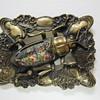 Art Nouveau Brass & Glass Sash Pin